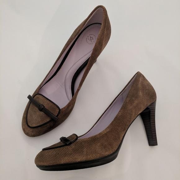 Corduroy Suede High Heels Euc | Poshmark